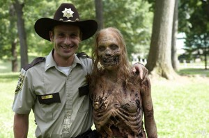 TGT - Rick smiles with zombie