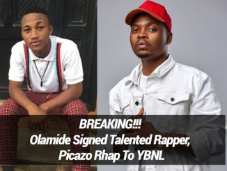 Olamide Signed Talented Rapper, Picazo Rhap To YBNL