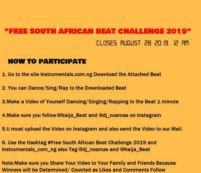 Free South Africa Beat 2019 Challenge