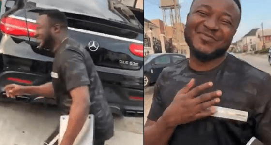 MC Galaxy buys a new car, latest Mercedes AMG (video)