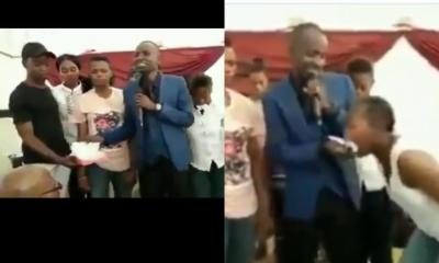 Pastor tears bible, feeds it to church members (video)