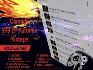 TGtrends Ft. Olamide - 999 EP Automix Mixtape