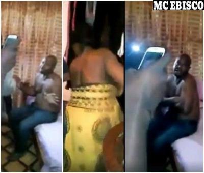 Shameful Act: Man Caught Pants Down With Neighbour's Wife (Watch Video)