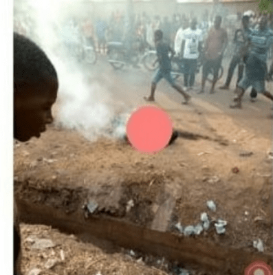 Enraged Mob sets man ablaze in Benue for allegedly stealing N2000