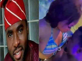 Nollywood Actor, Ibrahim Chatta Spotted Chopping A Lady In Swimming Pool