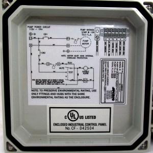 SPIBIO Pump Control Panel with High Water Alarm (Model