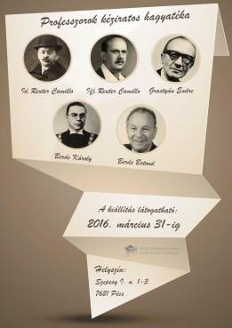 Professzorok kéziratos hagyatéka - plakát