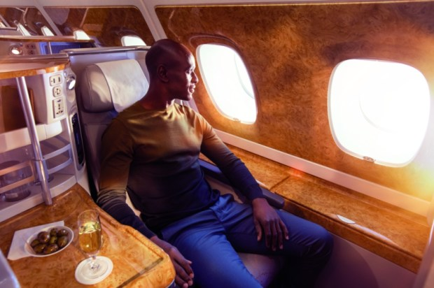 Business Class comfort on board Emirates A380 airc.jpg