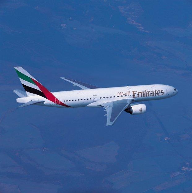 One of Emirates Boeing 777-300ER aircraft used on the Lusaka-Dubai service.