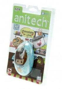 Anitech Mouse Duo Optical USB A314 ( สีฟ้า )