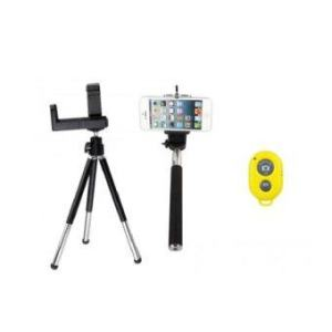 AB Shutter 3 Bluetooth Shutter + MonoPod + Tripod-Yellow