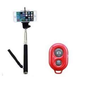 AB Shutter 3 BlueTooth Remote + MonoPod + HandHeld (Red)