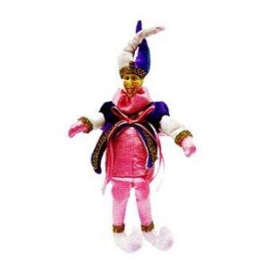 AllMerry Christmas ตุ๊กตาตัวตลก Jester 11 นิ้ว 2 เขา - สีชมพู (หน้าทำด้วยPorcelain)