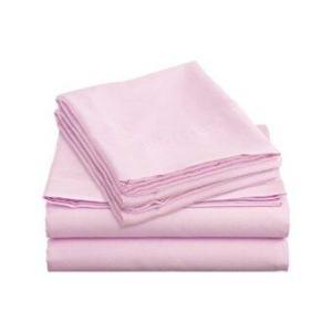 Allertex ชุดผ้าปูเตียงคู่กันไรฝุ่น 5 ฟุต 5 ขิ้น - สีชมพู ( รวมปลอกผ้านวม )