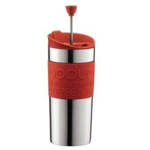 Bodum Travel press s/s w. extra lid 0.35l/12oz. (Red)