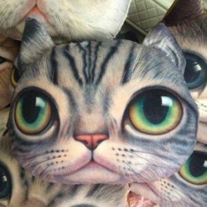 9sabuy หมอนหน้าแมว ตุ๊กตาแมว ตุ๊กตา cat doll pillow PLC003 - สีเทา