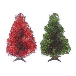 AllMerry Christmas ต้นคริสต์มาส 1ฟุต (ชุด 4 ต้น) - สีแดง/สีเขียว