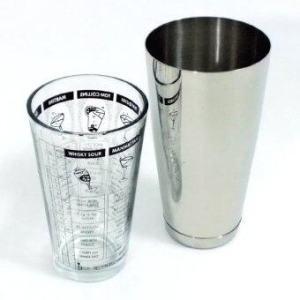 Boston Shaker บอสตันเชคเกอร์ Weighted Shaker 28 ออนซ์+ ถ้วยผสมพิมพ์สูตร