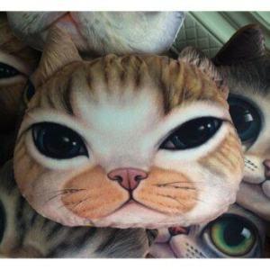 9sabuy หมอนหน้าแมว ตู๊กตาแมว cat doll pillow PLC001 - สีเหลืองส้ม