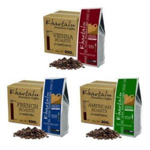 Khaotalu Premium Coffee กาแฟเขาทะลุ เมล็ดกาแฟ คั่วเข้ม+คั่วกลาง+คั่วอ่อน (3ถุง รวม 1500g.)