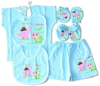 Attoon ชุดอุปกรณ์ เด็กแรกเกิด ผ้า Cottoon - สีฟ้า