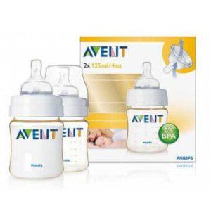 AVENT ขวดนมขนาด 4 ออนซ์ PES (BPA Free) แพคคู่
