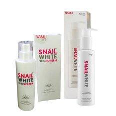 SNAIL WHITE Cleansing snail white 151ml. +Snail White SUNSCREEN SPF 50+ PA++++ 51ml