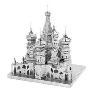 3D Mini Metal Puzzles Saint Basil's Cathedral - Silver
