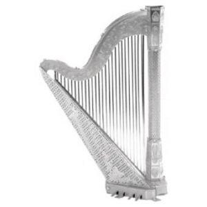 3D Mini Metal Puzzles Harp - Silver