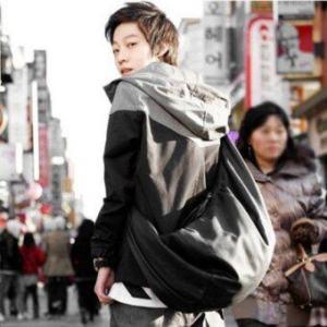 Osaka กระเป๋าสะพายหลังผู้ชายแบบหนัง PU รุ่น ND304 สีดำ