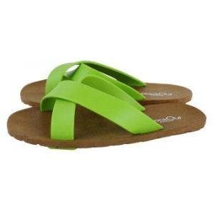 blackOut รองเท้าแตะ รุ่น BO-1001 สีน้ำตาล หูสีเขียว-เขียว