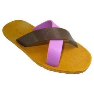 รองเท้าแตะ blackOut – รุ่น BO-1001 พื้นน้ำตาล หูน้ำตาล-ม่วง