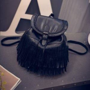 Little Bag กระเป๋าสะพายหลัง กระเป๋าเป้ กระเป๋าแฟชั่นผุ้หญิง รุ่น LP-031 (สีดำ)