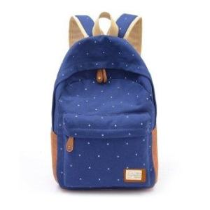Happycat 2016 New Cute Fashion Women's Canvas Travel Satchel Shoulder Bag Backpack School Rucksack (Red)