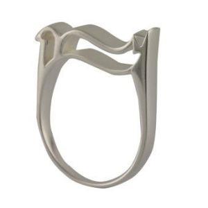 แหวนเงิน TE-TRA - รุ่น wavie head เบอร์ 6.5