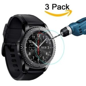 3-Packs Screen Protector for Samsung Gear S3 Classic SM-R770 S3Frontier SM-R760 SM-R765 Waterproof Tempered Glass Screen Protectorfor Gear S3 9H Hardness Ultra High Definition Crystal Clear ScratchResist No-Bubble - intl