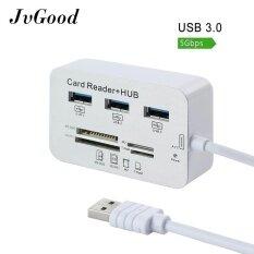 JvGood Micro USB 3.0 SD Card Reader Universal 3 พอร์ตภายนอก Multi การ์ดหน่วยความจำความเร็วสูง SDHC/ t-Flash/MS DUO/M2 สำหรับ PC แล็ปท็อป Mac