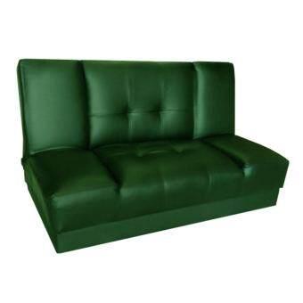 ADHOME โซฟาปรับนอน 2 ที่นั่ง สีเขียว