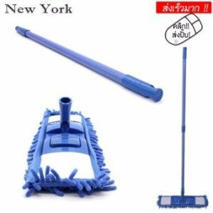 New York Big Sale ไม้ม็อบถูพื้น ม็อบดันฝุ่น ไมโครไฟเบอร์อเนกประสงค๋ No.019 - Blue