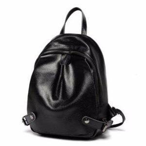 Maylin กระเป๋าเป้สะพายหลัง ผู้หญิง กระเป๋าเป้เกาหลี กระเป๋าเป้หนัง รุ่น MP-106 (สีดำ)