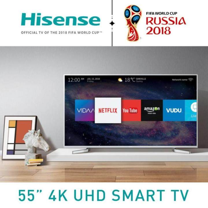 Hisense Smart 4K UHD HDR, Local Dimming TV with Matel Frame ขนาด 55 นิ้ว รุ่น 55M5010UW