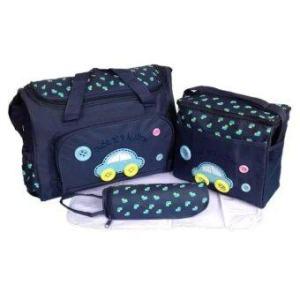 Minlane Kids Mother Care กระเป๋าสัมภาระคุณแม่ set 3 ใบ ลายรถ (Blue)