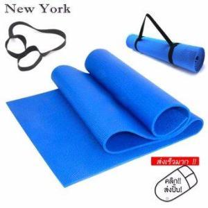 New York เสื่อโยคะ 173x61x0.6cm No.037 -สีฟ้า