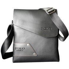 Matteo กระเป๋าสะพายหนัง ใส่ไอแพ็ด รุ่น Feidka Polo 2089 - สีดำ