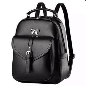 meet กระเป๋าเป้สะพายหลัง กระเป๋าเป้เกาหลี กระเป๋าเป้หนัง ผู้หญิง รุ่น (สีดำ)