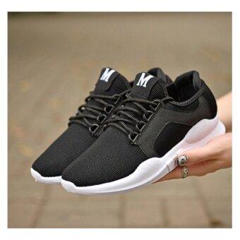 SUN Sport Casual Sneaker รองเท้าผ้าใบ รองเท้าผ้าใบผู้ชาย รองเท้าแฟชั่น No.1801 (Black)