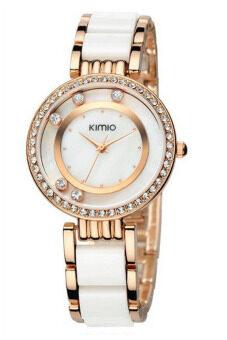 Kimio นาฬิกาข้อมือผู้หญิง สาย Alloy รุ่น K485 - สีขาว/ทอง