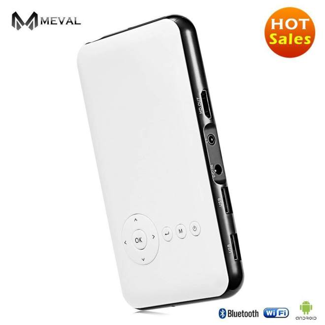Meval S6 Mini Projector For Mobile Low Price Home Cinema 1080p Full HD Smart Projector 1080P 1G/8G Rom - intl