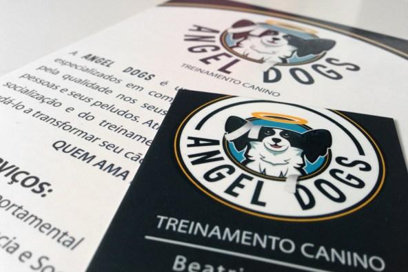 Imagem Cartão de visitas e Folder Angel Dogs