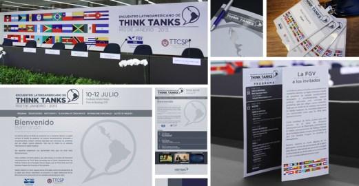 Criação de material promocional para evento - FGV - RJ
